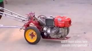 Balap Drag Lucu Mobil VS Traktor