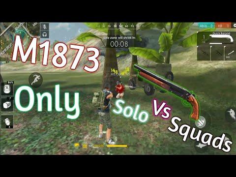 ONLY M1873 CHALLENGE! (Intense!)- Free Fire Battlegrounds