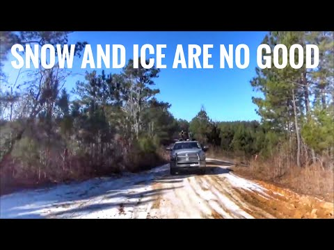 Snow and ice, cold logging in Mississippi