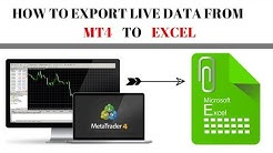 HOW TO EXPORT LIVE DATA FROM META TRADER 4 TO EXCEL