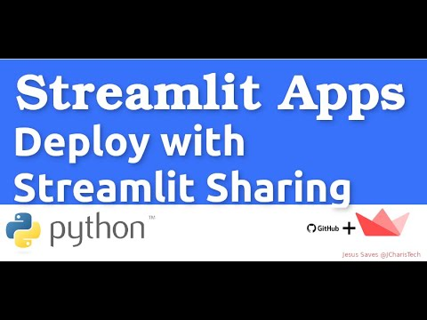 How to Deploy Your Streamlit App with Streamlit Sharing
