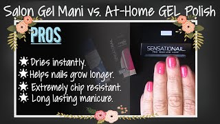 At Home GEL Nail Polish vs Sal…
