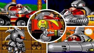 Sonic The Hedgehog 2 - All Bosses (No Damage)