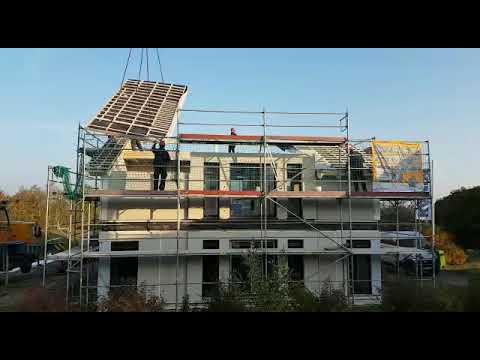 Bautagebuch Living Fertighaus 10 10 2018 Dachelement Youtube