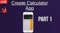 #12 Create Calculator App | Part 1 | Swift 4 | Xcode 10