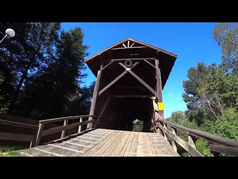 19th century settlement in California - Roaring Camp and the tallest covered bridge in the U.S.