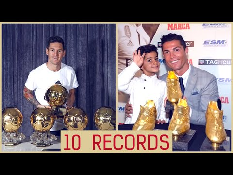 Messi &  Ronaldo ▶ 10 Amazing Records Which Are Hard To Break