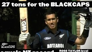 Ross Taylor after equalling the BLACKCAPS record for centuries