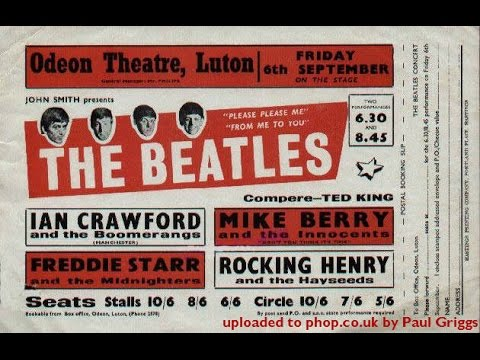 The Beatles gig at the Luton Odeon in 1963 - YouTube