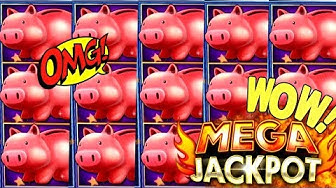 My BIGGEST HANDPAY JACKPOT On Piggy Bankin Slot Machine | High Limit piggy Bankin Slot Huge Jackpot