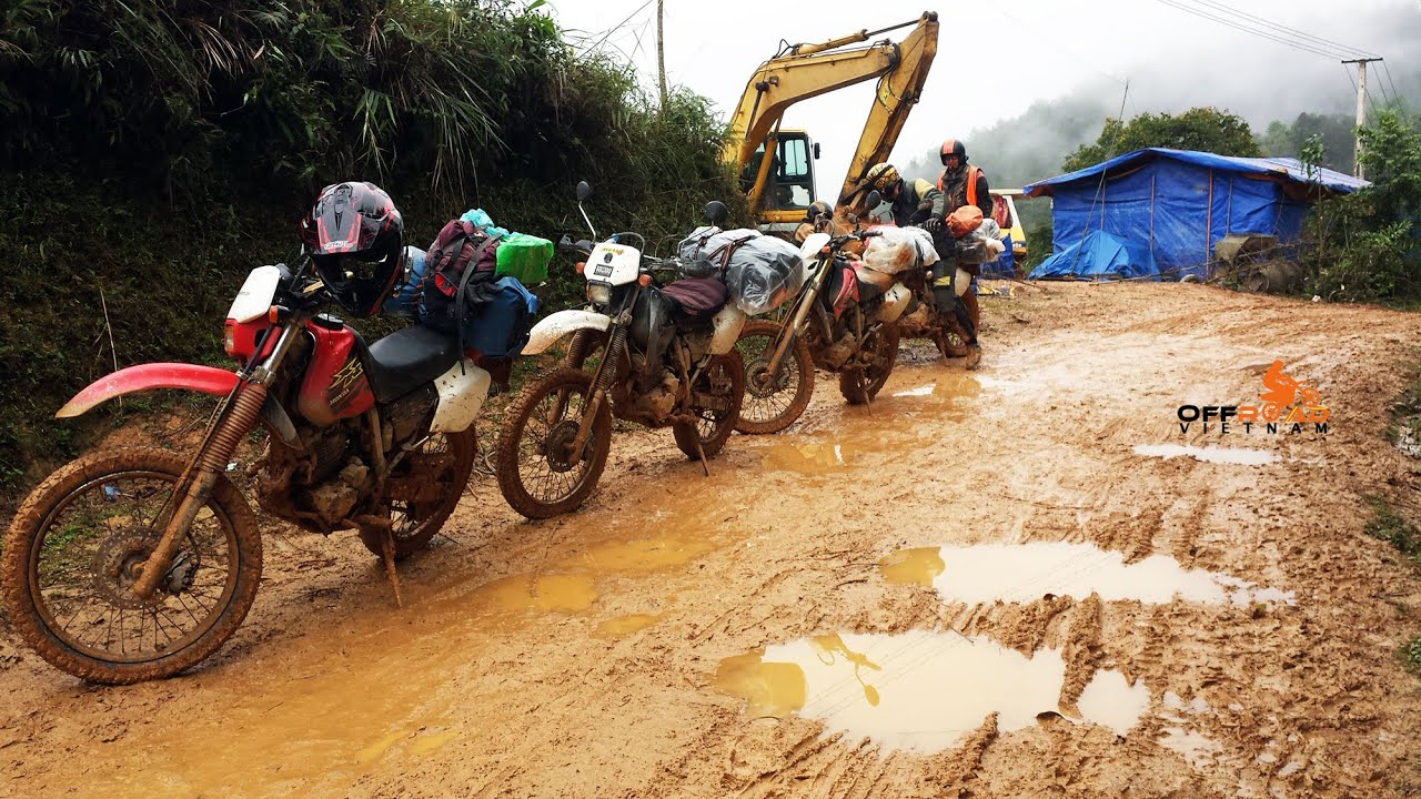 Vietnam Extreme Off Road Dirt Bike Tours Rentals On XR250 Honda
