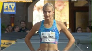Daria Klishina last jump during the Challenge Innsbruck Golden Roof Challenge