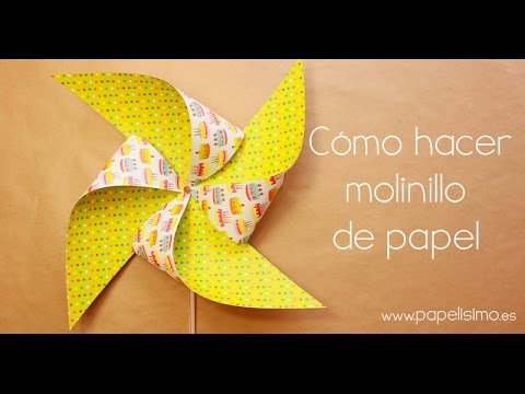 C mo hacer molinillo de papel que gira youtube - Vallas infantiles de colores ...