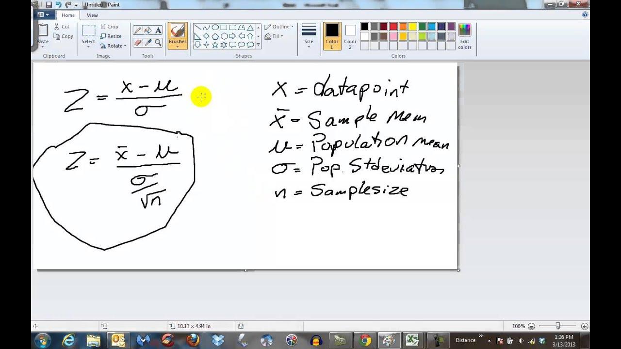 Clt Formula Vs Z Score Formula