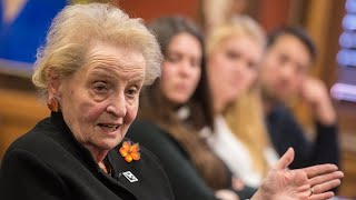 A Global Conversation with former US Secretary of State Madeleine Albright, Tanner Lecture Series