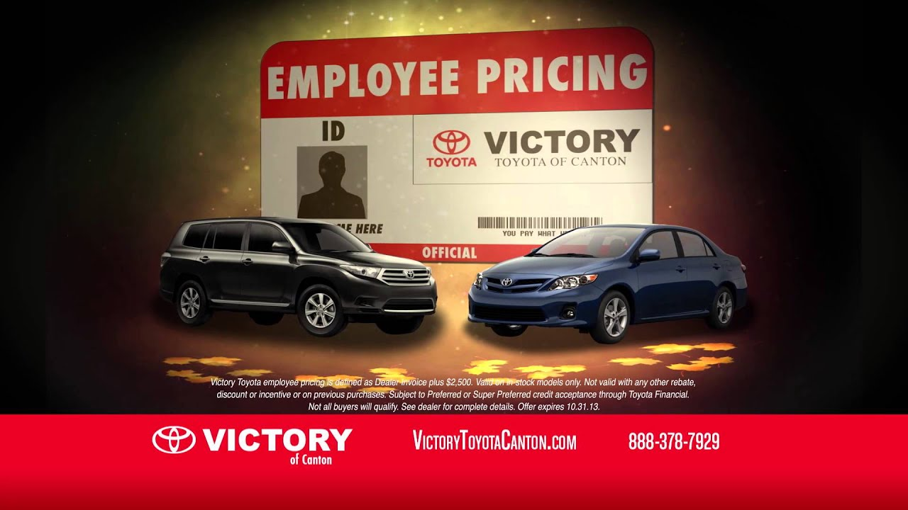 Victory Toyota Of Canton Fall Into Savings/Employee Pricing