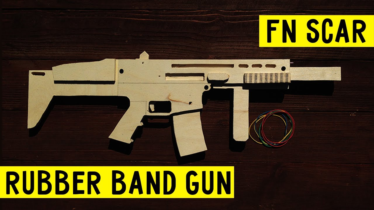 Super Simple Fn Scar How To Make Rubber Band Gun Wood