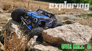 Exploring a New Location w/ the Axial Wraith Ford Bronco 4x4x4 | Rock Crawling | Overkill RC