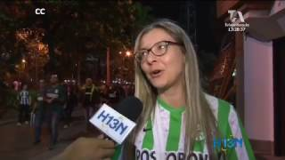 Satisfechos salieron los hinchas de Atlético Nacional después de la victoria ante Rionegro Águilas