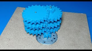 Make your oun geared motor in 10 minuts , Amazing Mechanical system