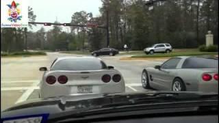 Funny Video - 2 Corvettes Race And Crash
