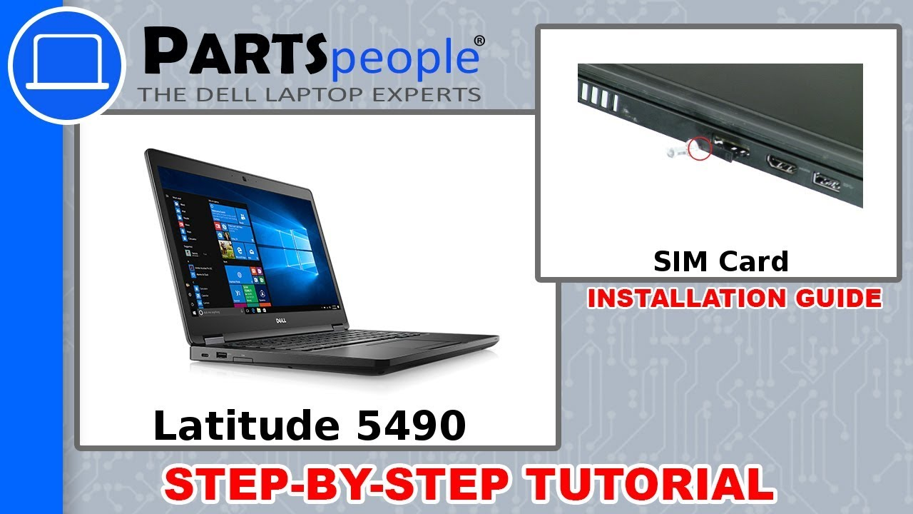 Dell Latitude 5490 (P72G002) SIM Card How-To Video Tutorial