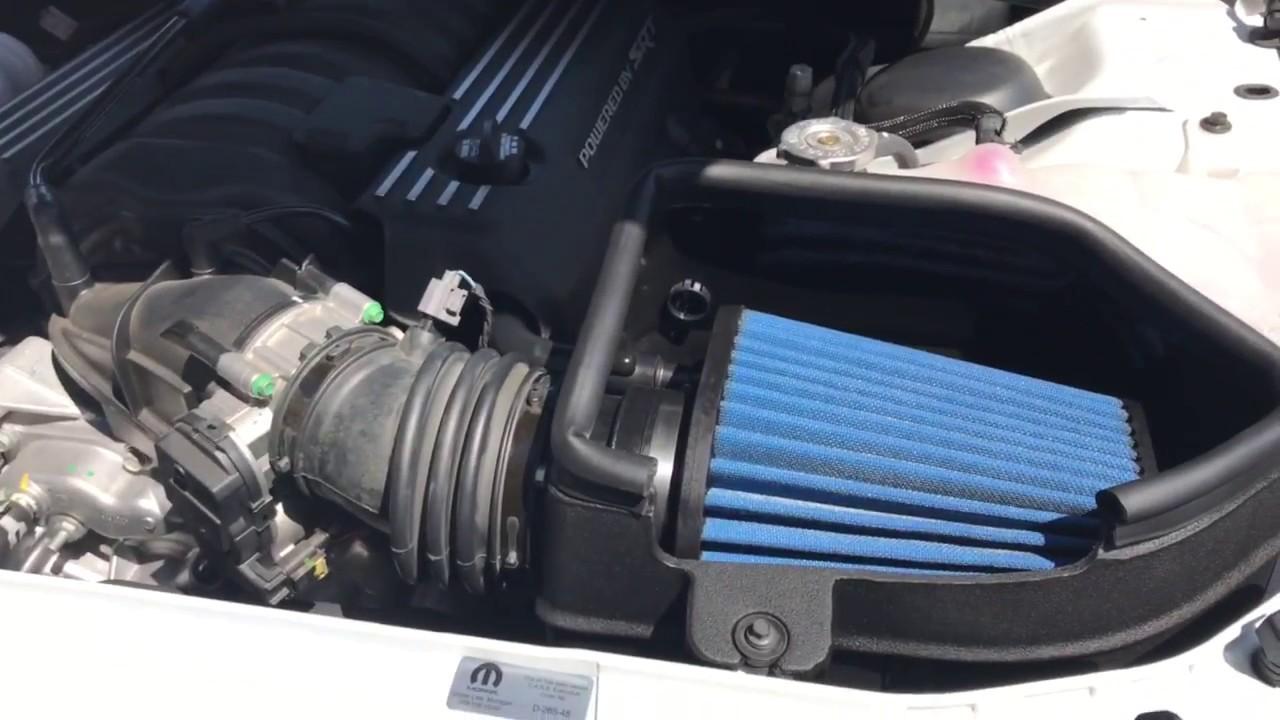 88a5ee56de9 2016 Dodge Challenger Scat Pack Mopar Cold Air Intake Review - YouTube