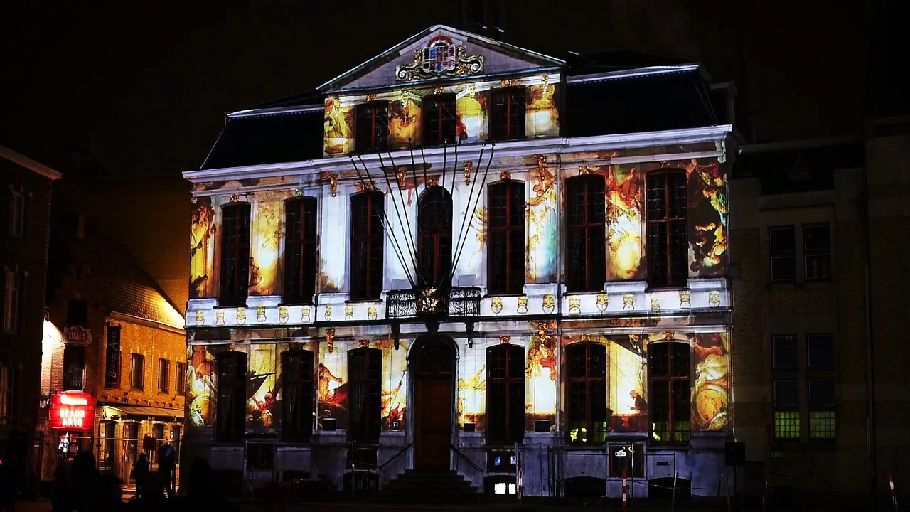 National Poetry Day Projection Mapping Townhall Roeselare, Belgium (Droom)