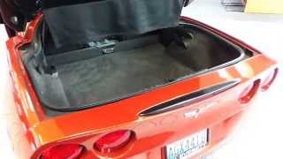 2006 Chevrolet Corvette, Daytona Sunset Orange Met - Stock# 31466a - Trunk