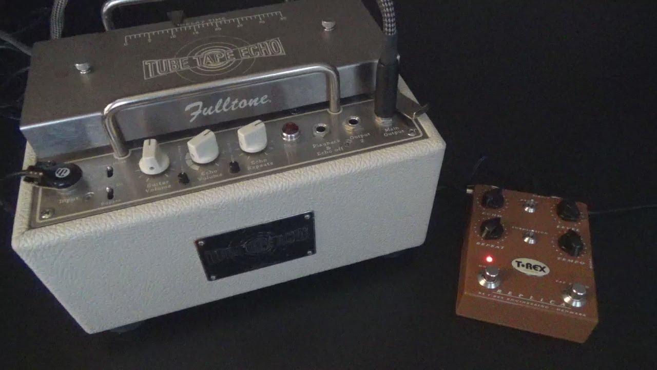 fulltone tube tape echo tte vs t rex replica tape delay comparison youtube. Black Bedroom Furniture Sets. Home Design Ideas