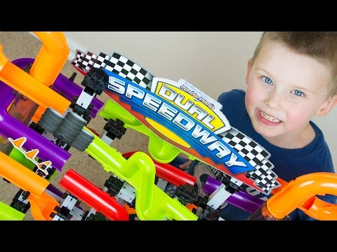 Marble Race Toy Unboxing Marble Mania Dual Speedway Kinder Playtime