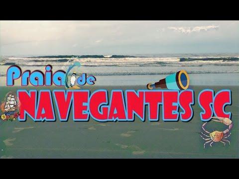 Viagem a Navegantes SC - Praia 1