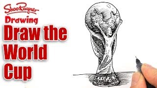 How to draw the FIFA World Cup Trophy