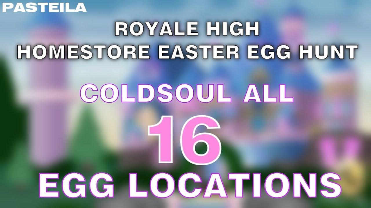 Royale High Easter Egg Hunt Coldsoul All 16 Eggs Youtube