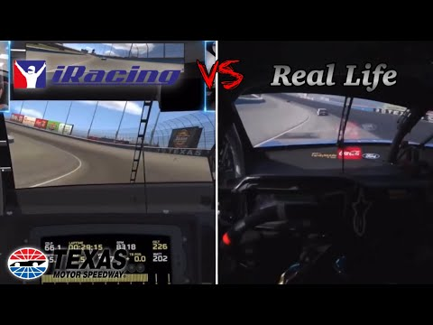 iRacing VS Real Life: Texas Motor Speedway Side by Side