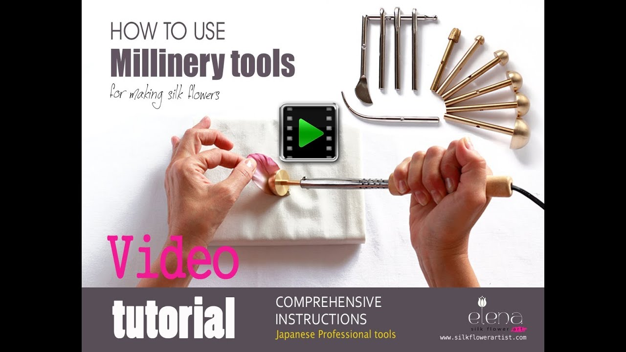 Flower making tools to make couture silk flowers youtube mightylinksfo