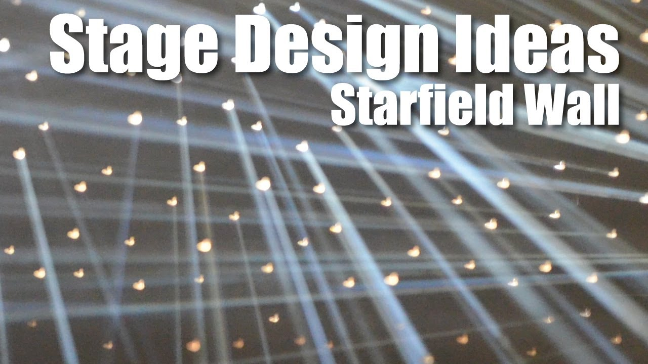 Church Stage Design Ideas Starfield Wall YouTube