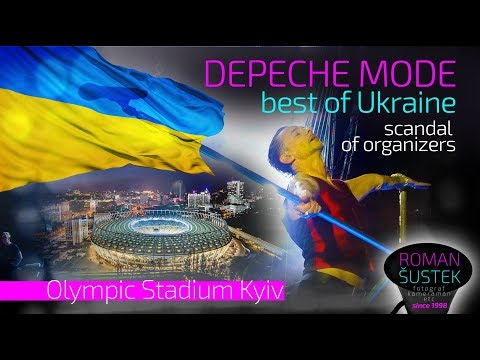 Depeche Mode Kijev 19.7.2017 UA TV report fiasko organizátorov top momenty