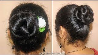 2 minute आसान और सिंपल जूड़ा पार्टी के लिए | quick easy wedding /party bun | hair style girl