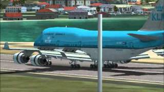 Video FSX Landing Boeing 747-400 KLM At TNCM download MP3, 3GP, MP4, WEBM, AVI, FLV Agustus 2018