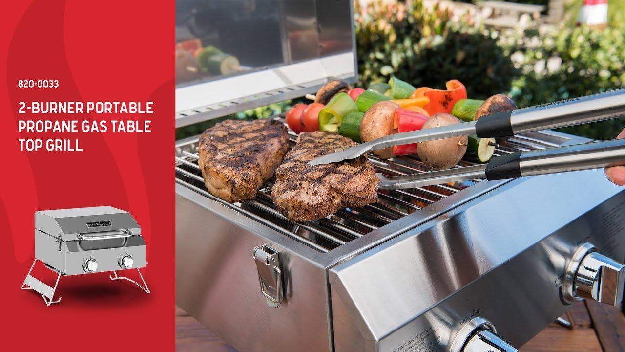 Nexgrill 2 Burner Portable Propane Gas Table Top Grill 820 0033
