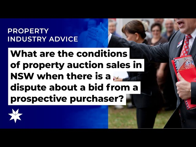 Conditions of auction sales in NSW when there's a dispute about a bid from prospective purchaser