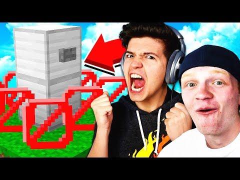 THE BEST HIDING SPOT! - Minecraft HIDE THE BUTTON! | UnspeakableGaming vs PrestonPlayz