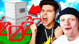 THE BEST HIDING SPOT! - Minecraft HIDE THE BUTTON! | UnspeakableGaming vs PrestonPlayz