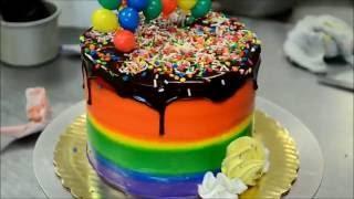 Украшение тортов | Как украсить торт на день рождения радугой