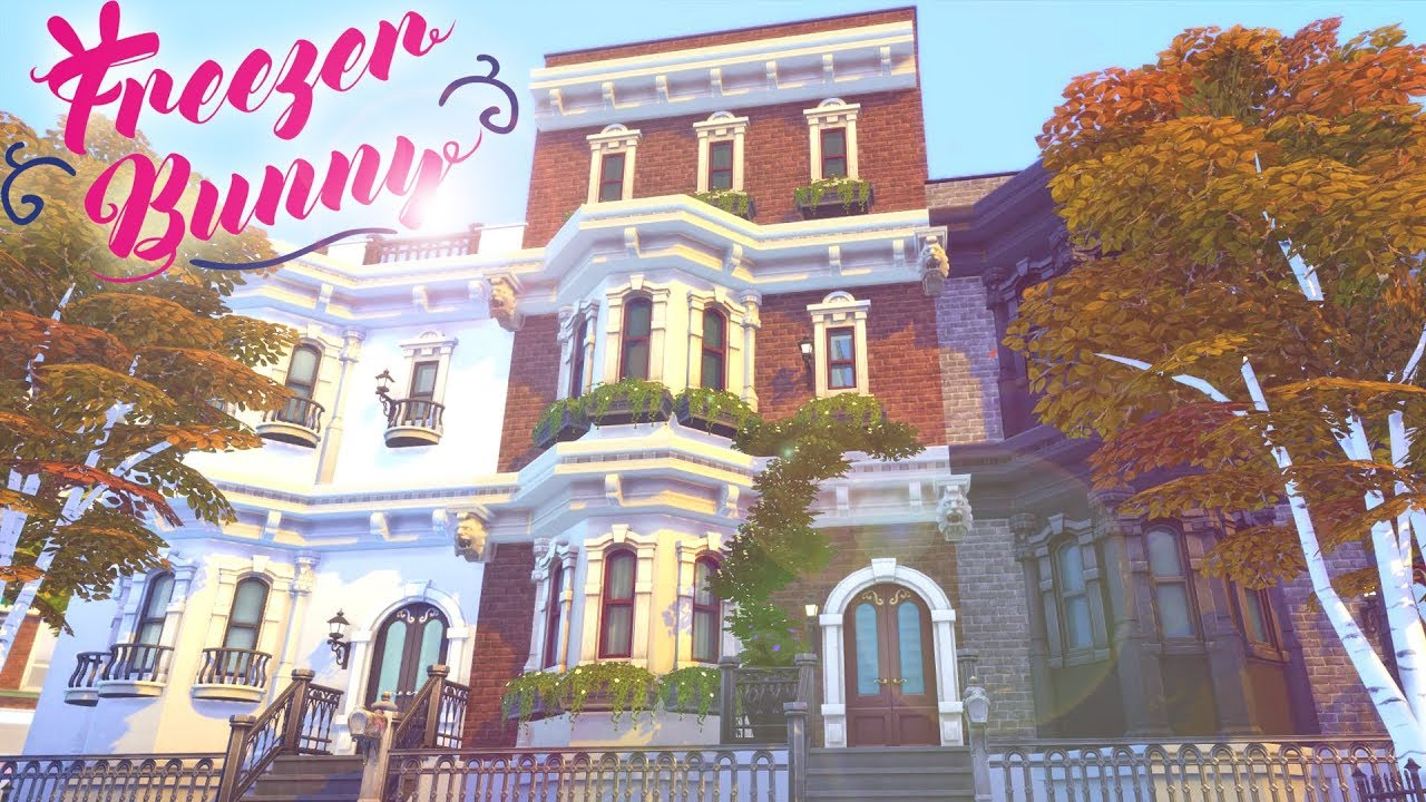 Manhattan Townhouse The Sims 4 Speed Build Cc Free