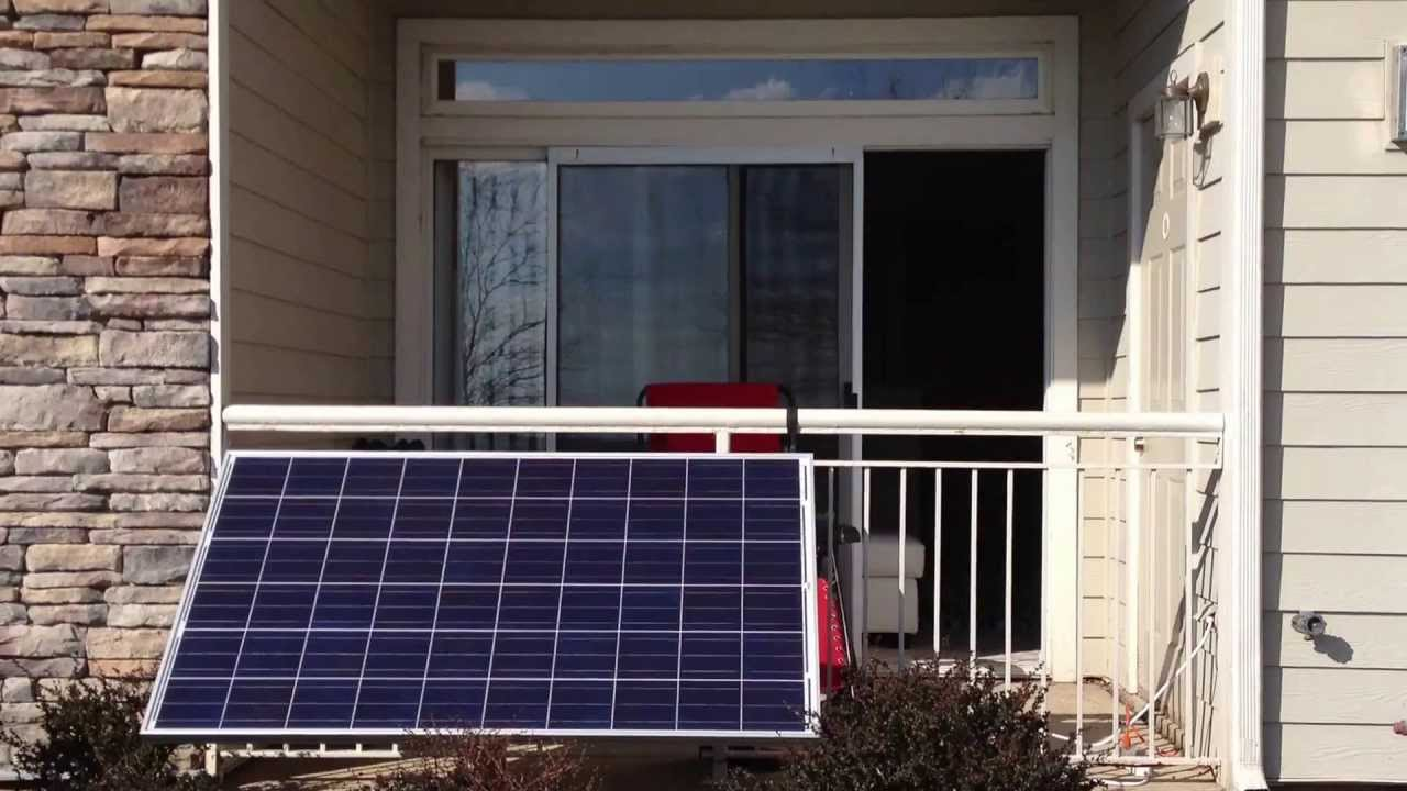 Small apartment balcony solar power setup (part 1) - YouTube