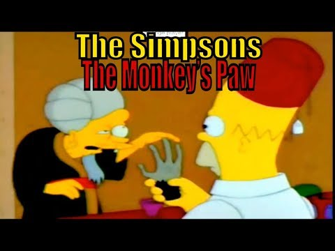 The Monkey's Paw Bart Simpsons