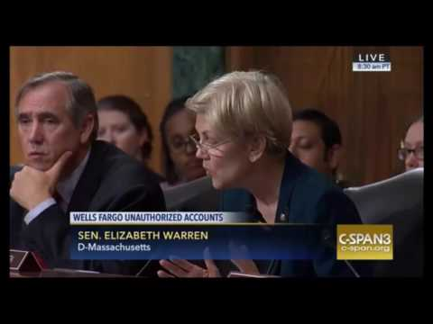 "Elizabeth Warren DESTROYS Wells Fargo CEO For Unauthorized Accounts ""YOU SHOULD RESIGN"" 9/20/16"