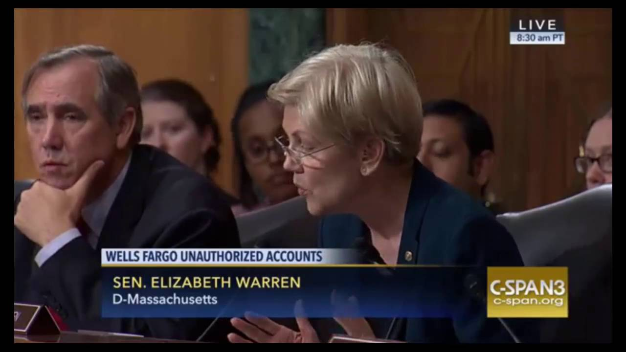 Elizabeth Warren DESTROYS Wells Fargo CEO For Unauthorized ...